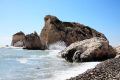Rock of Aphrodite Stock Photos