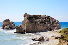 Rock of  Aphrodite (Petra Tou Romiou) Stock Image