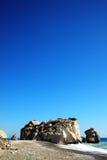 Rock of Aphrodite (Petra Tou Romiou) Royalty Free Stock Photography