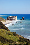 Rock of Aphrodite. (Petra Tou Romiou) the birthplace of Aphrodite the Greek goddess of love, on a shoreline beach of  Western Cyprus between Paphos and Limassol Stock Photography