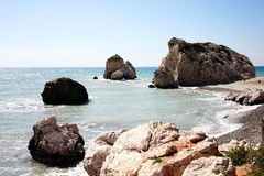 Rock of Aphrodite Royalty Free Stock Images