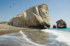 Rock of Aphrodite Stock Images