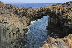 Rock arc at Graciosa Island, Canary Islands, Spain Stock Photography