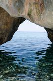 Rock arc. By the beach in Kefalonia, Greece Stock Image
