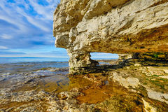 Rock Arch at Cave Point Royalty Free Stock Photo