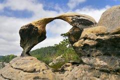 Rock arch gate. Sandstone - rock city. Bohemian National Park Stock Photo