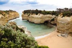 Rock arch in Great Ocean Road route in Australia Stock Photos