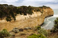 Rock arch in Great Ocean Road route in Australia Stock Images