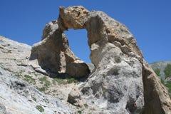 Rock arch near Lacs de Vens, Maritime Alps. Stock Image