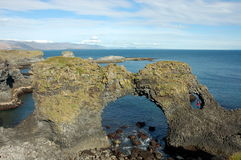 Rock arch on North Sea coast Royalty Free Stock Photography
