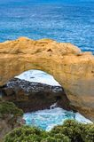Rock arch and ocean. Nature background. Rock arch with ocean on the background. Nature landscape Royalty Free Stock Photo