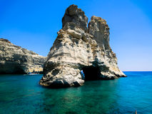 Rock arches and caves in the sea Royalty Free Stock Photos