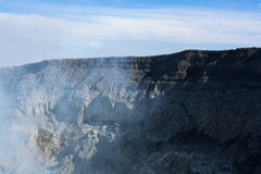 Rock around ijen crater, East Java, Indonesia with blue sky Royalty Free Stock Photos