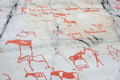 Rock art at Alta Stock Photography