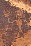 Rock Art Figure Waving Royalty Free Stock Photo