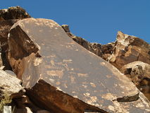 Rock Art. At the Parowan Gap Petroglyphs site in southern Utah Royalty Free Stock Image