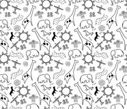 Rock art seamless pattern Royalty Free Stock Images