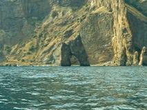 Rock as gates in sea Stock Photo