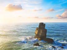 Rock in the Atlantic ocean Stock Photography