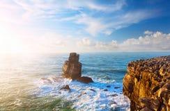 Rock in the Atlantic ocean Stock Photos