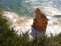 Rock in Atlantic ocean Stock Photography