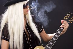 Rock babe Royalty Free Stock Photos