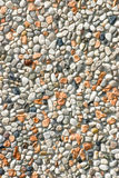 Rock Background. A pebble rock background of various types of rocks Royalty Free Stock Images