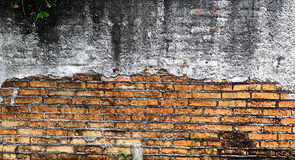 Rock background. The old brick walls in Thailand Stock Photography