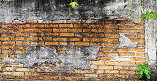 Rock background. The old brick walls in Thailand Royalty Free Stock Photo