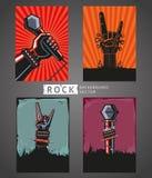 Rock Backgrounds Set Royalty Free Stock Image