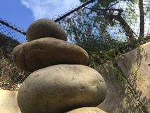 Rock Balance from the bottom Royalty Free Stock Photo