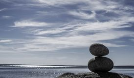Rock Balancing royalty free stock photos