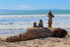 Rock balancing art Royalty Free Stock Images