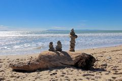Rock balancing art Stock Photo