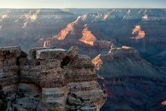 Rock balancing on the Grand Canyon Rim Stock Photos