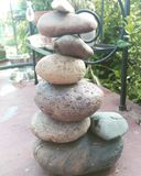 Rock balancing. Peace patience meditate Royalty Free Stock Images