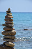 Rock balancing in Sardinia stock photos