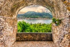 Free Rock Balcony Overlooking The Town Of Salo, Lake Garda, Italy Royalty Free Stock Image - 114016036