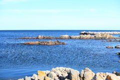Rock and baltic sea, europe Royalty Free Stock Images