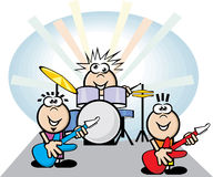 Rock band. Cartoon of a kids rock band Royalty Free Stock Photos