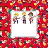 Rock Band Card Stock Image