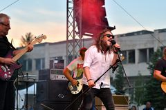 19/05/2018 Panagiurishte, Bulgaria. Rock band. Stock Photography