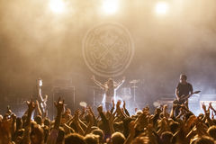 Rock band live concert on stage Royalty Free Stock Photo