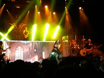 Within Temptation live concert. 03 september 2016- Bucharest , Romania. The rock band , Within Temptation singing live Stock Photography