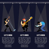 Rock band music group vector illustration Stock Images