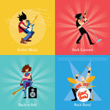 Rock band music group vector illustration Stock Image