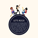 Rock band music group vector illustration Stock Photography