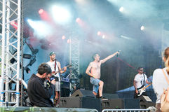 Rock band. Niste baieti punk band on stage at padina fest 2015 Royalty Free Stock Photo