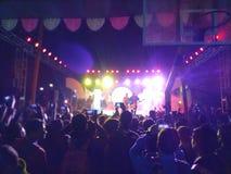 Rock Band och fansen arkivfoto