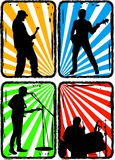 Rock band, part 2 Royalty Free Stock Image